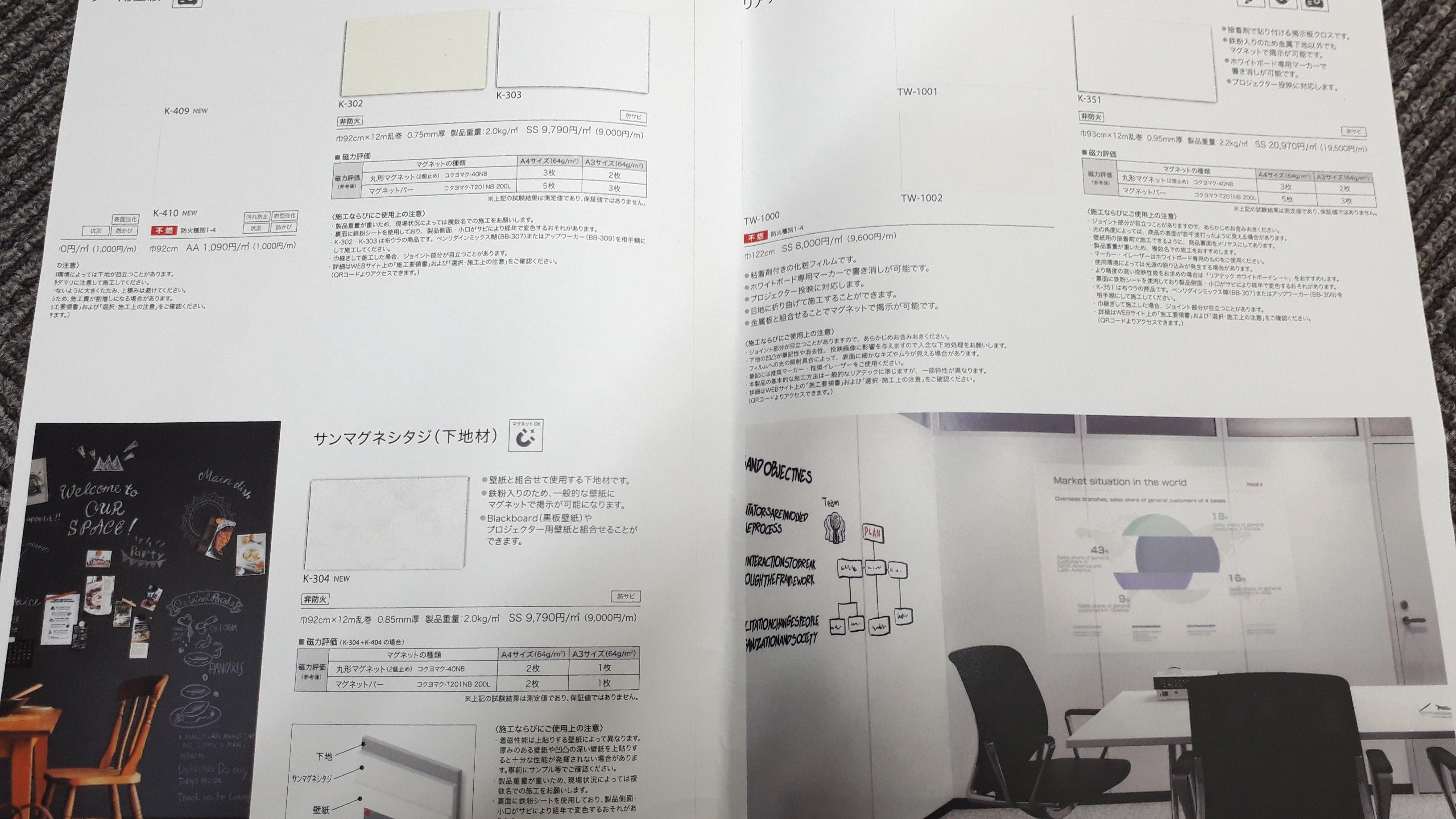 マグネット入りの壁紙のご紹介 和歌山市 壁紙 フローリング張替えは かべがみマイスター インテリア津田まで